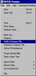 Cara Periksa Error pada Company file MYOB