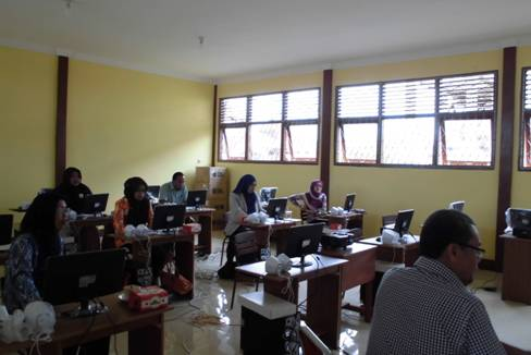 Training MYOB sedang Berlangsung - Kab. Mempawah, Kalimantan Barat
