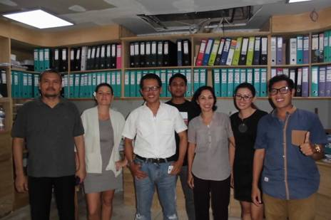 With GM, Mrs Hannah Hoad, Financial Controller and Accounting Staff of Suarga Hotel, Bali