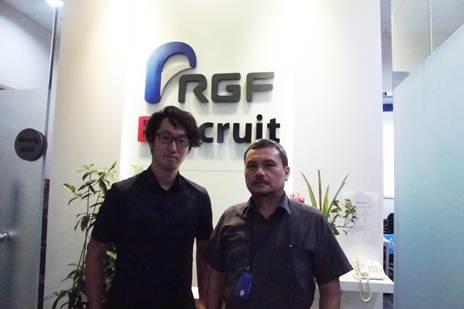With Director of PT Brecruit Indonesia, Konoke Doi at Graha Pratama Office Bulding, Jakarta Selatan
